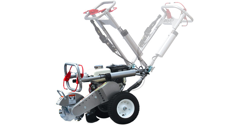 Front Left View of the 200-6HC 200 Series Mini Stump Grinder Compact Handlebar