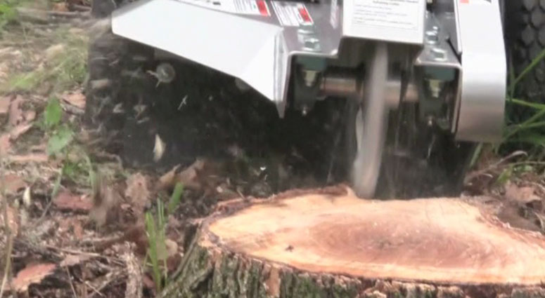 Close Up View of the 200-6HC 200 Series Mini Stump Grinder Side Discharge